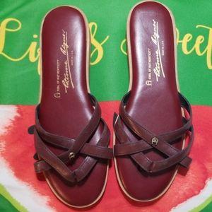 Etienne Aigner size 9 leather sandals CUTE !